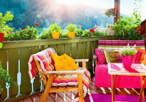 Renkli Balkonlar - Küçük Alan Bahçeciliği